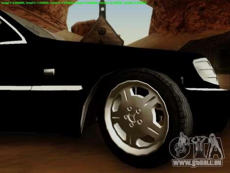 Mercedes-Benz W140 pour GTA San Andreas vue intérieure