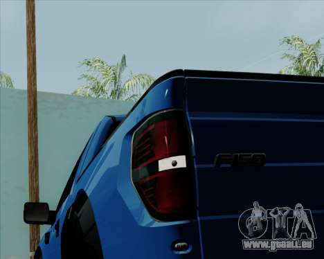 Ford F-150 SVT Raptor 2011 pour GTA San Andreas vue de dessus