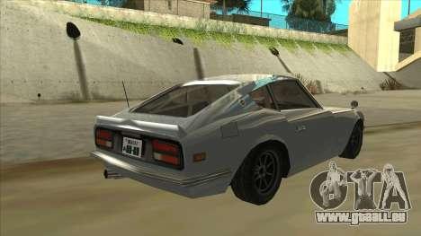 Nissan Fairlady S30Z pour GTA San Andreas vue de droite