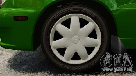 Daewoo Lanos FL 2001 US für GTA 4 hinten links Ansicht
