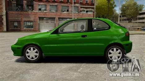 Daewoo Lanos FL 2001 US pour GTA 4 est une gauche