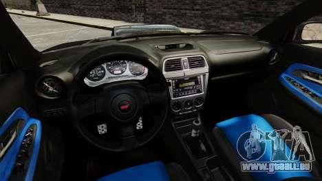 Subaru Impreza 2005 DTD Tuned pour GTA 4 est un côté