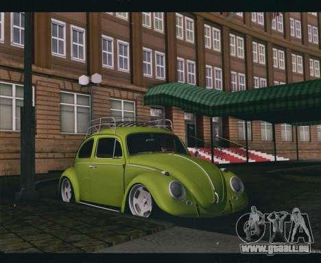Volkswagen Beetle 1966 pour GTA San Andreas sur la vue arrière gauche