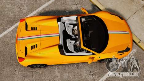 Ferrari 458 Spider 2013 Italian pour GTA 4 est un droit