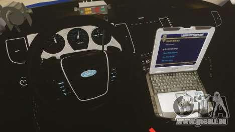 Ford Taurus Police Interceptor 2013 LCPD [ELS] für GTA 4 Rückansicht