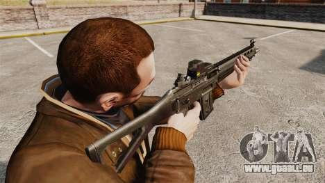 Fusil d'assaut SIG 551 pour GTA 4 secondes d'écran
