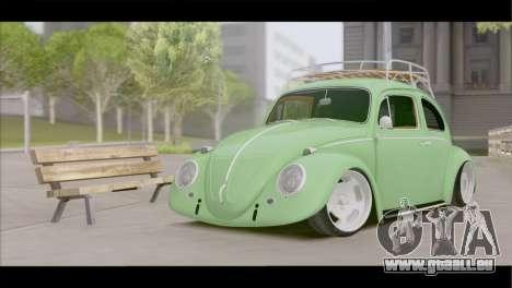 Volkswagen Beetle 1966 pour GTA San Andreas vue arrière