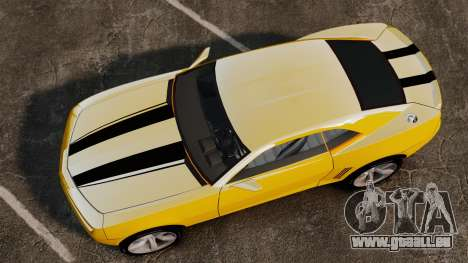 Chevrolet Camaro Bumblebee pour GTA 4 est un droit