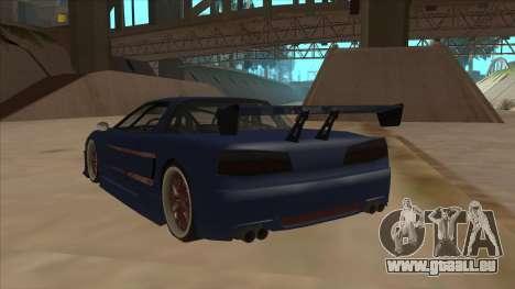 Infernus 2013 für GTA San Andreas Rückansicht