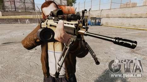 Machine d'assaut FN SCAR-L pour GTA 4 troisième écran