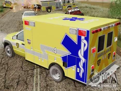 Dodge Ram Ambulance BCFD Paramedic 100 pour GTA San Andreas vue de côté