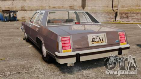 Ford LTD Crown Victoria für GTA 4 hinten links Ansicht