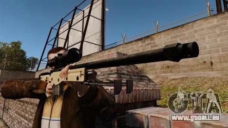 AW L115A1 Scharfschützengewehr für GTA 4 dritte Screenshot