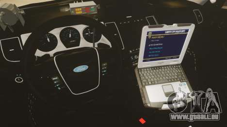 Ford Taurus Police Interceptor 2013 LCPD [ELS] pour GTA 4 Vue arrière
