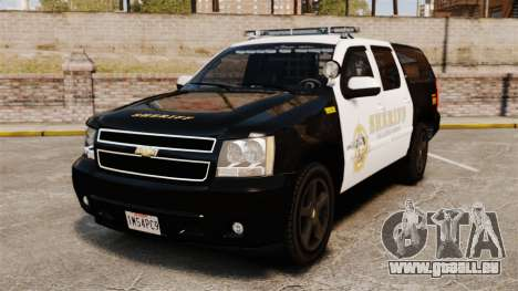 Chevrolet Suburban GTA V Blaine County Sheriff pour GTA 4