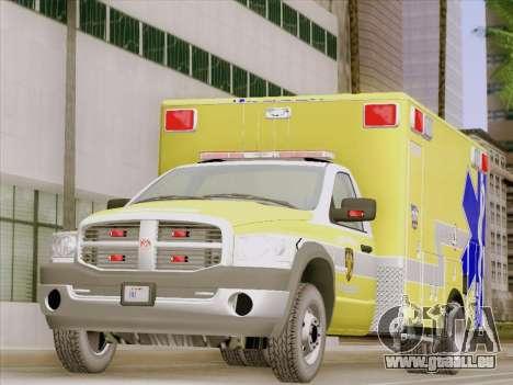 Dodge Ram Ambulance BCFD Paramedic 100 pour GTA San Andreas laissé vue