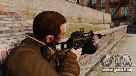 Fusil d'assaut H & K MG36 v4 pour GTA 4 secondes d'écran