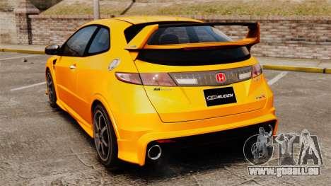Honda Civic Type-R (FN2) pour GTA 4 Vue arrière de la gauche