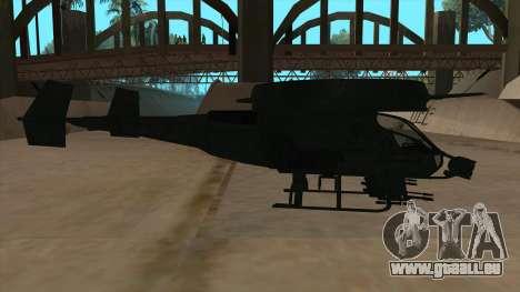 AT-99 Scorpion Gunship from Avatar pour GTA San Andreas sur la vue arrière gauche