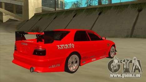 Toyota Chaser JZX100 DriftMuscle pour GTA San Andreas vue de droite