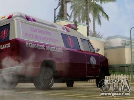 Vapid Ambulance 1986 pour GTA San Andreas vue arrière