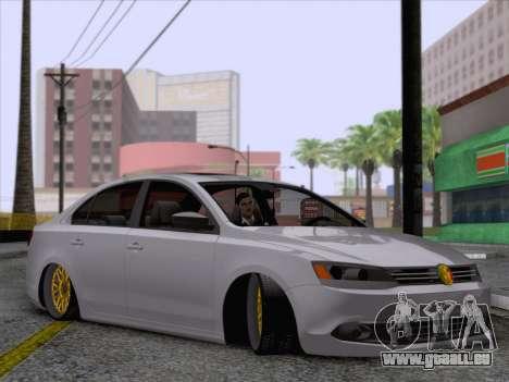 Volkswagen Jetta Rasta pour GTA San Andreas sur la vue arrière gauche