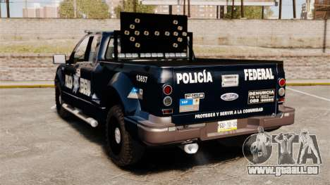 Ford F-150 De La Policia Federal [ELS & EPM] v1 für GTA 4 hinten links Ansicht