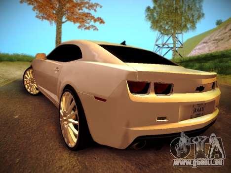 Chevrolet Camaro SS Tuning pour GTA San Andreas laissé vue