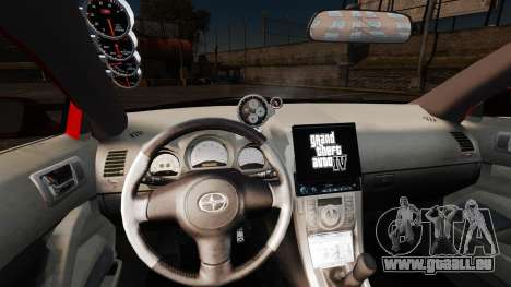 Scion tC 2.4 v2.0 Tuning Edition pour GTA 4 Vue arrière