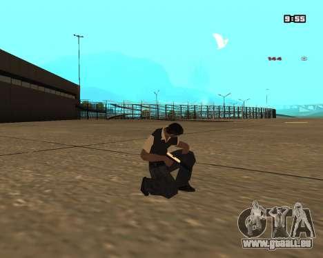 White Chrome Silenced pour GTA San Andreas deuxième écran