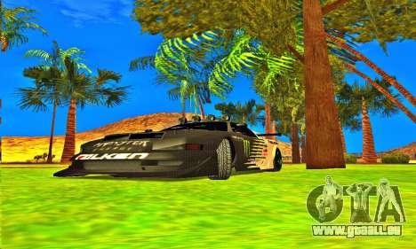 Infernus Rally Moster Energy 2012 pour GTA San Andreas laissé vue