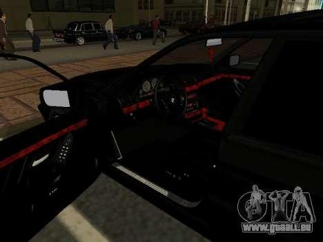 BMW 740I pour GTA San Andreas vue intérieure