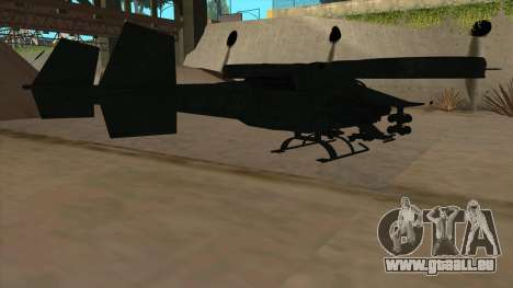AT-99 Scorpion Gunship from Avatar pour GTA San Andreas vue de droite