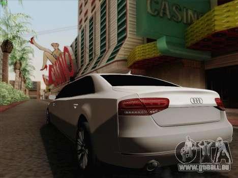 Audi A8 Limousine für GTA San Andreas Innenansicht
