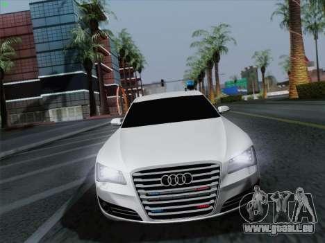 Audi A8 Limousine für GTA San Andreas Rückansicht