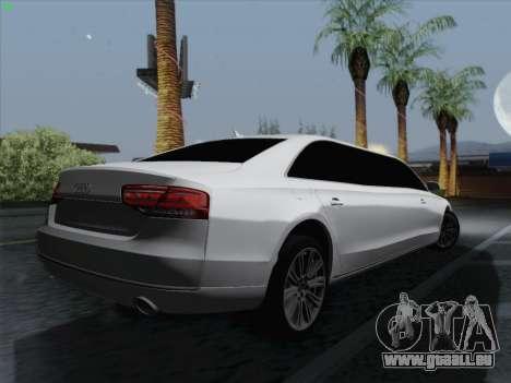 Audi A8 Limousine pour GTA San Andreas vue de droite