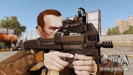 Pistolet mitrailleur P90 FN pour GTA 4 troisième écran
