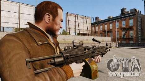 Mitrailleuse légère M249 SAW pour GTA 4 secondes d'écran