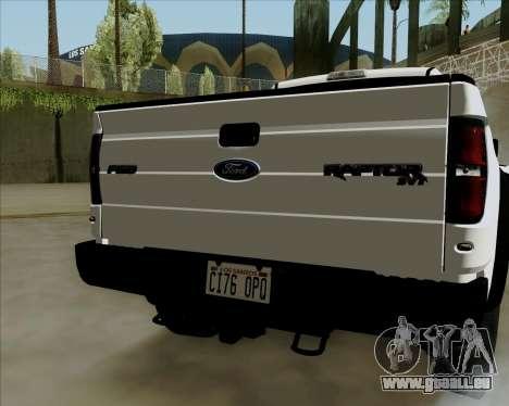 Ford F-150 SVT Raptor 2011 pour GTA San Andreas sur la vue arrière gauche