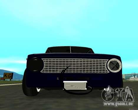 VAZ 2101 bébé v3 pour GTA San Andreas sur la vue arrière gauche
