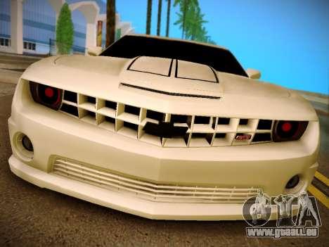 Chevrolet Camaro SS Tuning pour GTA San Andreas sur la vue arrière gauche