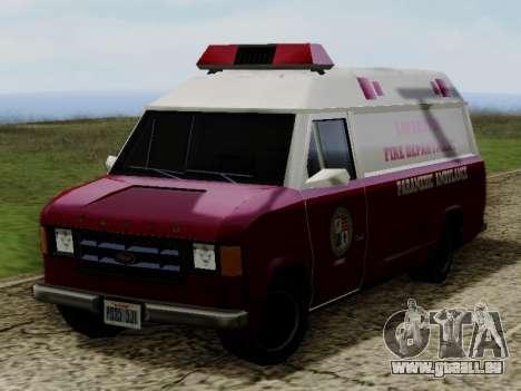 Vapid Ambulance 1986 pour GTA San Andreas vue de droite