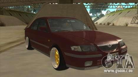 Mazda 626 Hellaflush pour GTA San Andreas laissé vue
