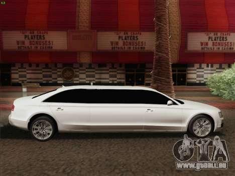 Audi A8 Limousine pour GTA San Andreas vue de côté