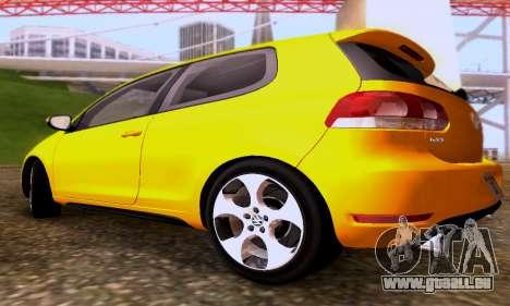 Volkswagen Golf 6 GTI pour GTA San Andreas vue arrière