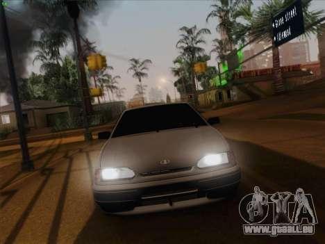 ВАЗ 2114 pour GTA San Andreas vue de dessus