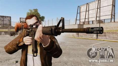 Un fusil d'assaut américain M16A4 pour GTA 4 troisième écran