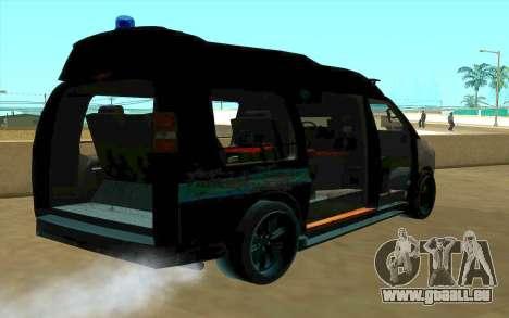 GMC Savana AWD FSB pour GTA San Andreas vue de dessus