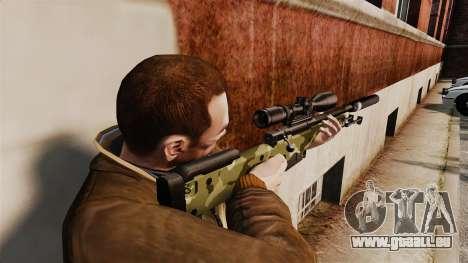 Fusil de sniper AW L115A1 avec un silencieux v7 pour GTA 4 secondes d'écran