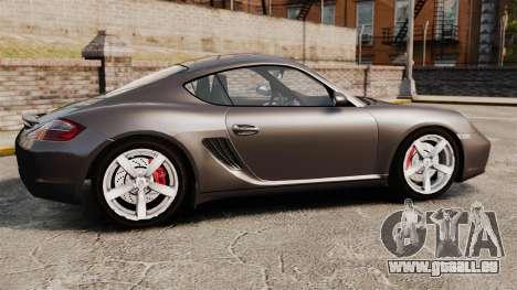 Porsche Cayman S pour GTA 4 est une gauche
